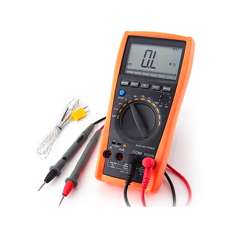 ดิจิตอลมัลติมิเตอร์พร้อมโพรบวัดอุณหภูมิ Multimeter with Thermometer