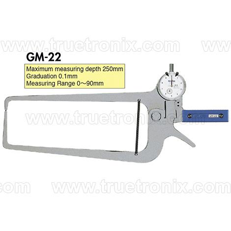 เกจวัดความหนาท่อแบบไดอัล TECLOCK GM-22 External Dial Caliper Gauge 0-90mm
