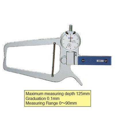 เกจวัดนอกวัดความหนาท่อ TECLOCK GM-1 External Dial Caliper Gauge 0-90/125mm