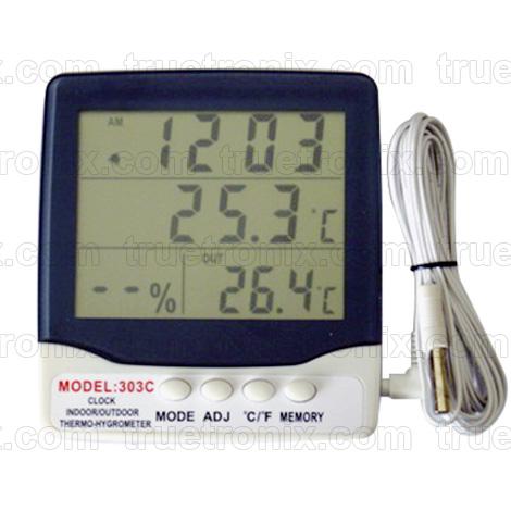 เครื่องวัดอุณหภูมิและความชื้นมีสายโพรบ 303C Thermo-Hygrometer
