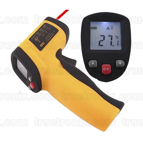 ปืนวัดอุณหภูมิด้วยแสงขนาด -50 ถึง 360C Infrared Digital Thermometer