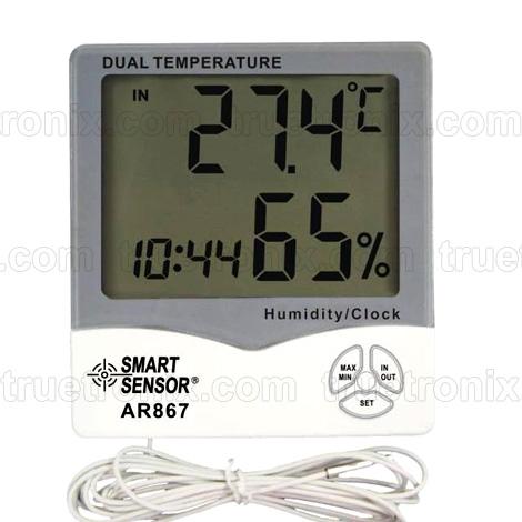 เครื่องวัดอุณหภูมิและความชื้นแบบวัดภายในภายนอก Thermo-Humidity AR867