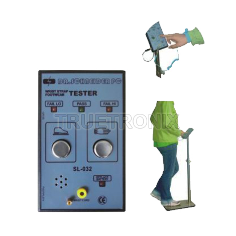 เครื่องทดสอบสายรัดข้อมือ SL-032 Dual Footwear-Wrist Strap Tester