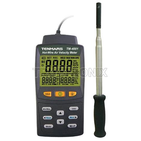 เครื่องวัดลมอุณหภูมิและความชื้น Tenmars TM-4002 3in1 Anemometer