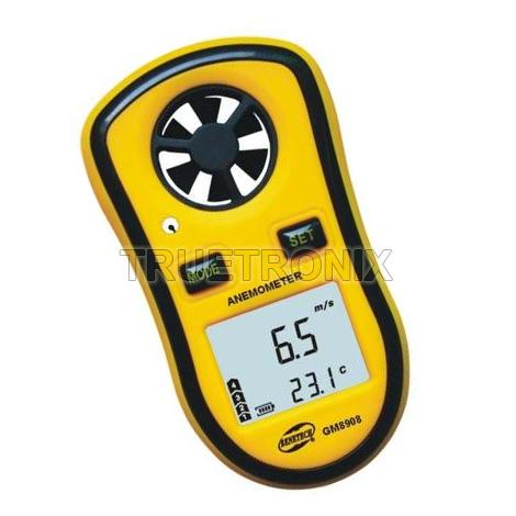 เครื่องวัดความเร็วลมขนาดเล็ก Benetech GM8908 Digital Anemometer