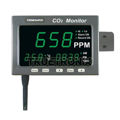 มิเตอร์บันทึกอุณหภูมิและความชื้น Tenmars TM-187D CO2 Thermo-Hygro Meter