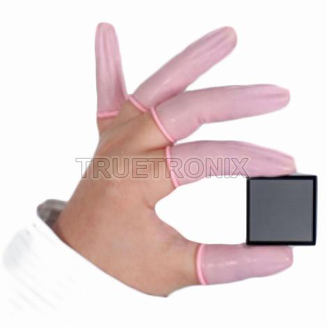 ถุงนิ้วยางสีชมพู Anti-Static Finger Cots