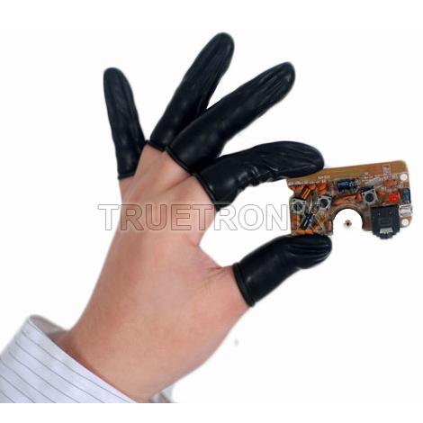 ถุงนิ้วยางสีดำ Conduct Black Finger Cots