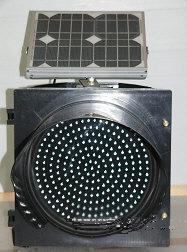 สัญญาณไฟกระพริบพลังงานแสงอาทิตย์ ขนาด 300มม. (LEDs 165 ดวง)