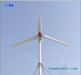 กังหันลมผลิตไฟฟ้าขนาด 2KW - 20KW  (Wind Turbine Generator 2KW - 20KW)