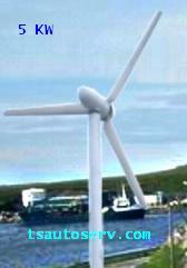 กังหันลมผลิตไฟฟ้าขนาด 2KW - 20KW  (Wind Turbine Generator 2KW - 20KW) 2