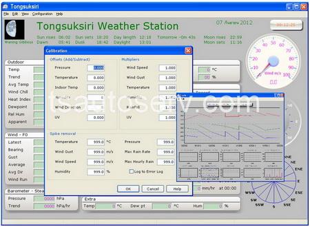 เครื่องวัดสภาพอากาศรุ่นมืออาชีพ (EN1081A) 5
