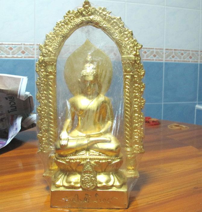 พระไพรีพินาศ บูชา หน้าตัก 3 นิ้ว ปี 2538 ปิดทอง พิธีใหญ่ แบบมีซุ้ม  (เช่าบูชาแล้ว)
