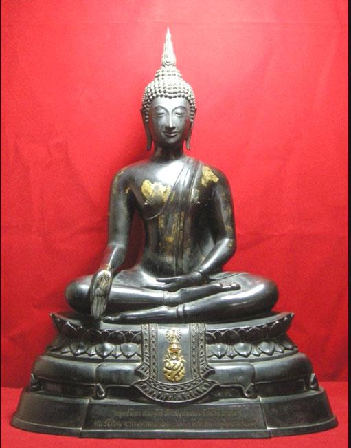 พระบูชา ภปร. 2508 วัดบวรนิเวศ หน้าตัก 9 นิ้ว (นิยม) บล๊อคนี้ หายากสุด ๆ ครับ (มีผู้เช่าบูชาแล้ว)