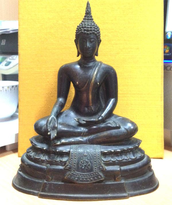 พระบูชากฐินต้น ภปร. วัดเทวสังฆาราม (วัดเหนือ) จ.กาญจนบุรี (เช่าบูชาแล้ว)