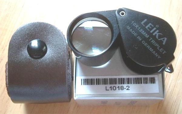 กล้องส่องพระ LEIKA 10X 18MM GERMANY บอดี้ สีดำ พร้อมซองหนังแท้ ส่องแล้ว สว่างใสแจ๋ว