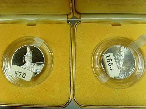 เหรียญพระมหาโพธิสัตว์กวนอิม เนื้อเงิน 80 พรรษา สมเด็จพระญาณสังวร  (เช่าบูชาไปแล้ว)