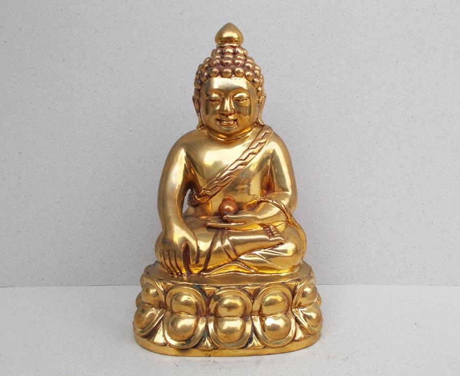 พระบูชาอุดมสมบูรณ์ (ปุ้มปุ้ย)  เนื้อสัมฤทธิ์ หน้าตัก ๓ นิ้ว  รุ่นแรก ปี 2535  งาม (เช่าบูชาไปแล้ว)