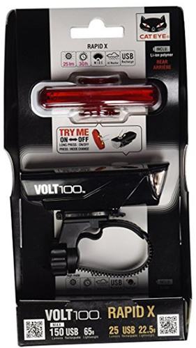 ชุดไฟหน้า/หลัง CATEYE COMBO SET VOLT100 +RAPID X