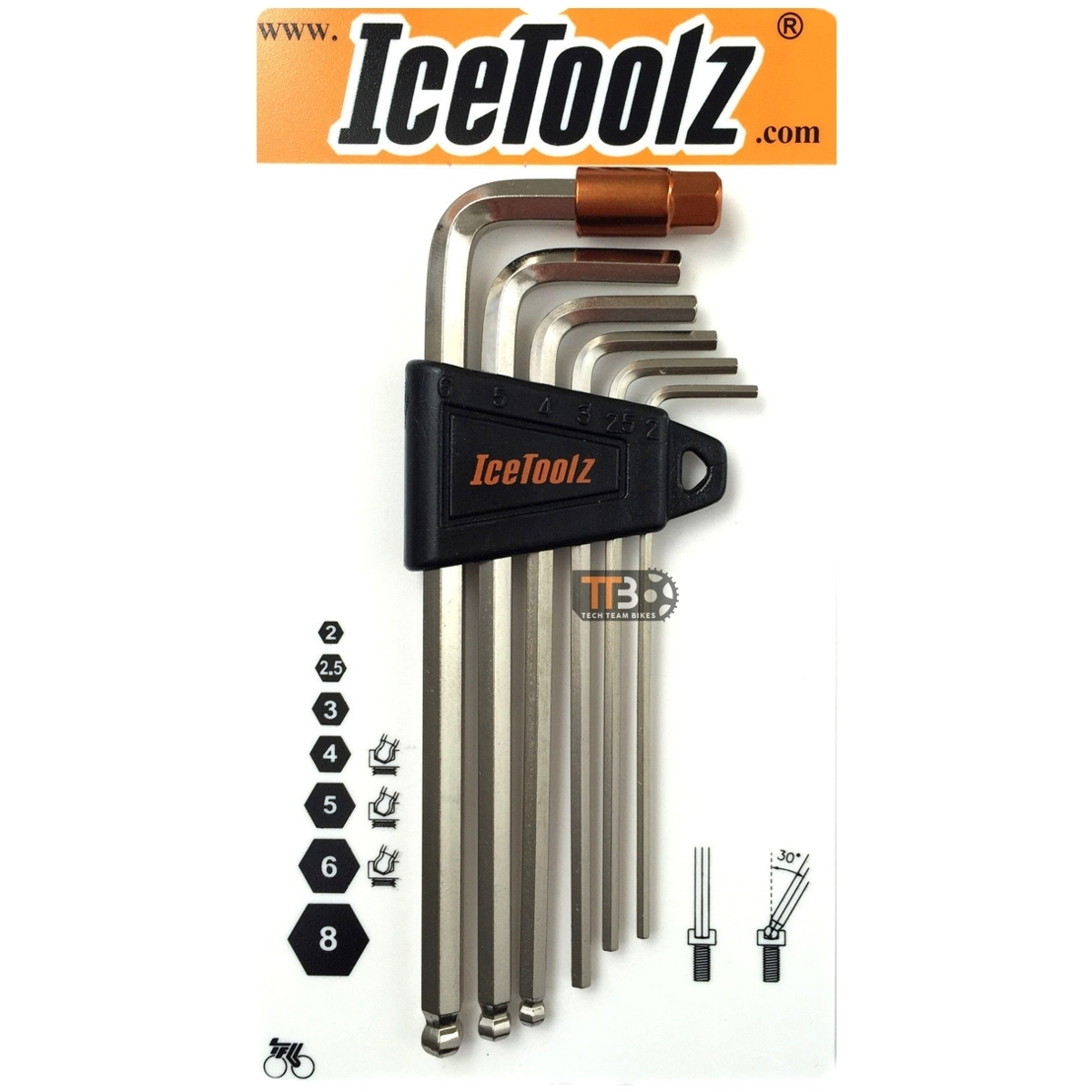 ชุดประแจหกเหลี่ยม ICETOOLZ Y 36Q1