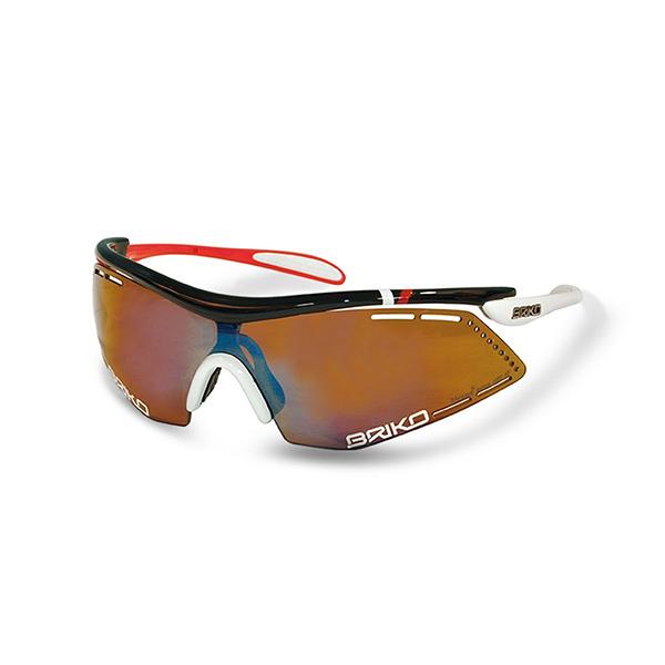 แว่นตา BRIKO รุ่น Endure Pro Team สีดำ/ขาว/แดง