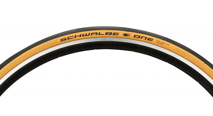 ยางนอก SCHWALBE รุ่น ONE สีเหลือง [ 700x25C ] ขอบพับ