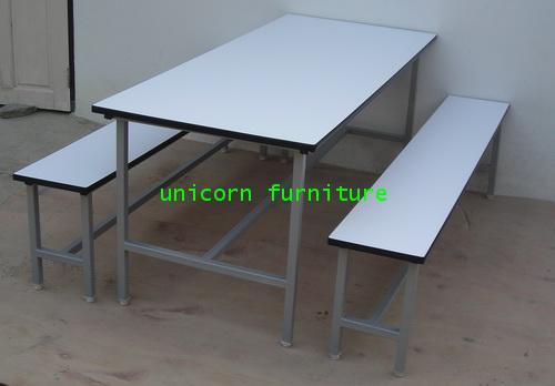 โต๊ะแคนทีน 8 ที่นั่ง แบบเชื่อมตาย