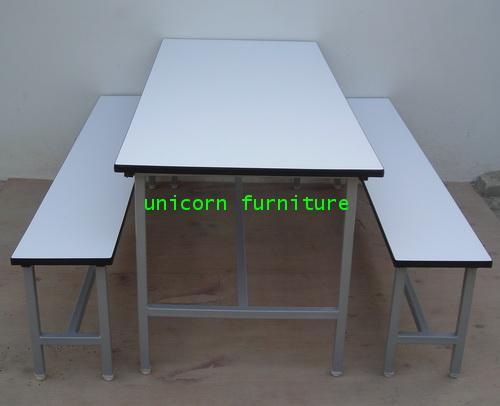 โต๊ะแคนทีน 8 ที่นั่ง แบบเชื่อมตาย 1