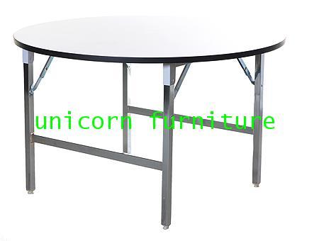 โต๊ะขาพับ โต๊ะพับ Conference table แบบกลม หนา 19 มิล
