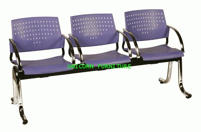 เก้าอี้พักคอย เก้าอี้แถว รุ่น UN-621 แบบ 2 ,3 , 4 ที่นั่ง