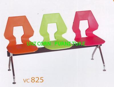 เก้าอี้โพลี แบบแถว ชนิด 2ที่นั่ง 3ที่นั่ง 4ที่นั่ง รุ่น UN-825