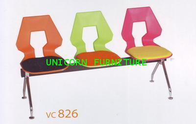 เก้าอี้โพลี แบบแถว ชนิด 2ที่นั่ง 3ที่นั่ง 4ที่นั่ง รุ่น UN-826