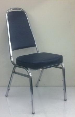เก้าอี้จัดเลี้ยงขาทรง A โครงชุบเงา