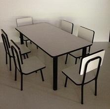 โต๊ะอนุบาล แบบกลุ่ม รุ่น ปังปอนด์ 1