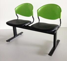 เก้าอี้แถวเบาะนวม2ที่นั่งรุ่น CLF7PV 1
