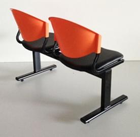 เก้าอี้แถวเบาะนวม2ที่นั่งรุ่น CLF7PV 4