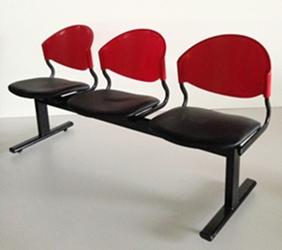 เก้าอี้แถวเบาะนวม3ที่นั่งรุ่น CLF7PV 1