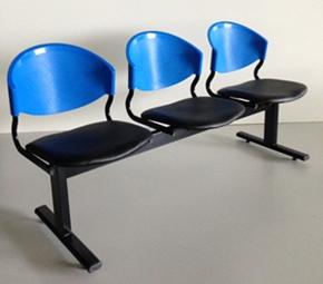 เก้าอี้แถวเบาะนวม3ที่นั่งรุ่น CLF7PV 2