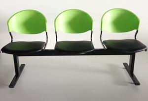 เก้าอี้แถวเบาะนวม3ที่นั่งรุ่น CLF7PV 3