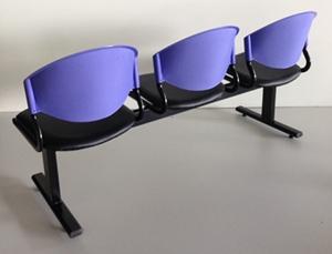 เก้าอี้แถวเบาะนวม3ที่นั่งรุ่น CLF7PV 4