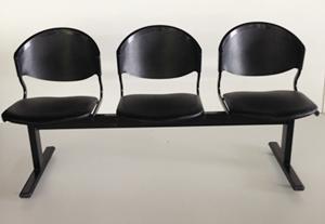 เก้าอี้แถวเบาะนวม3ที่นั่งรุ่น CLF7PV 5