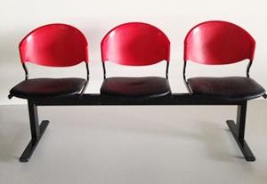 เก้าอี้แถวเบาะนวม3ที่นั่งรุ่น CLF7PV 6