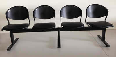 เก้าอี้แถวเบาะนวม4ที่นั่งรุ่น CLF7PV-4 1