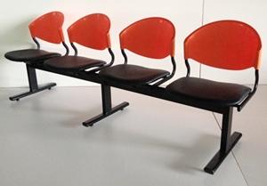 เก้าอี้แถวเบาะนวม4ที่นั่งรุ่น CLF7PV-4 2