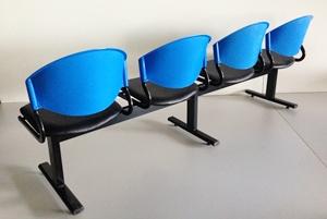 เก้าอี้แถวเบาะนวม4ที่นั่งรุ่น CLF7PV-4 3