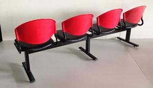 เก้าอี้แถวเบาะนวม4ที่นั่งรุ่น CLF7PV-4 4