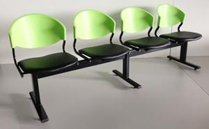 เก้าอี้แถวเบาะนวม4ที่นั่งรุ่น CLF7PV-4 5