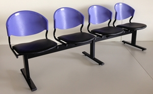 เก้าอี้แถวเบาะนวม4ที่นั่งรุ่น CLF7PV-4 6