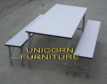 ชุดแคนทีน19 mm โต๊ะขาพับ มีให้เลือ 6 ขนาด 4 หรือ 6 หรือ 8 ที่นั่ง ต่อชุด