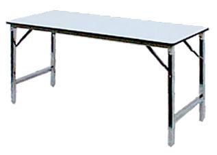 โต๊ะขาพับ โต๊ะประชุม Conference table โต๊ะหน้าขาว แบบกลม หนา 19มิล 1